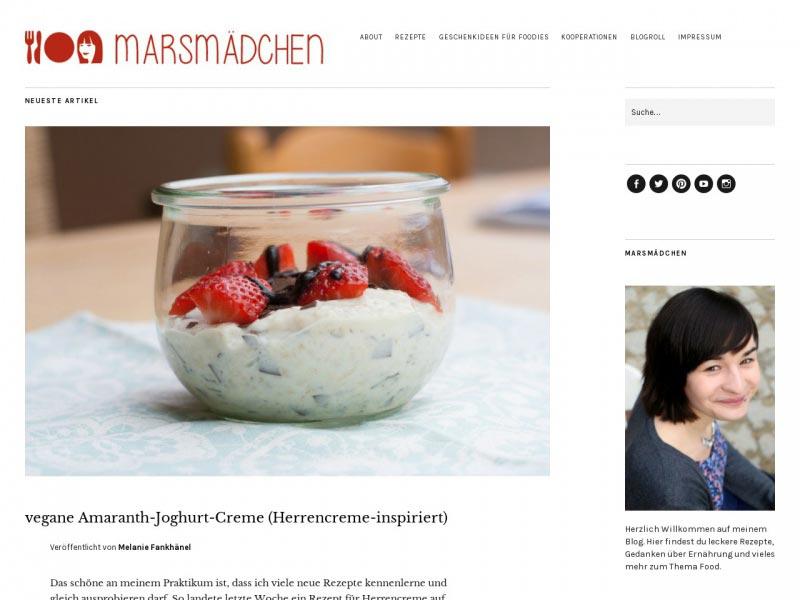 http marsmaedchen - Die Liste der besten Food-Blogs im deutschsprachigen Raum