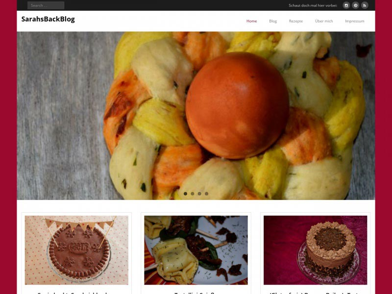 Food Blog sarahsbackblog.de