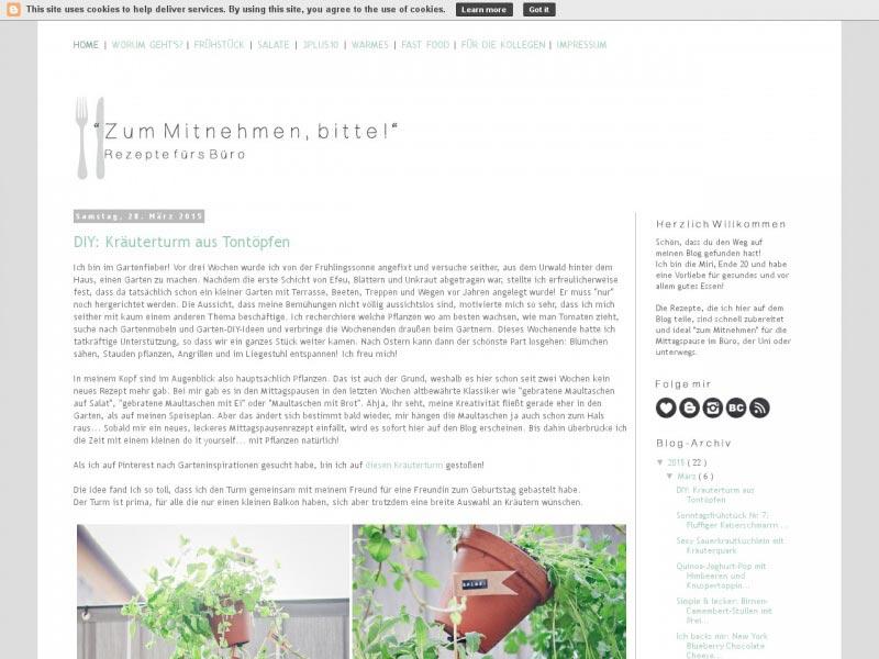http zum mitnehmen bitte.blogspot - Die Liste der besten Food-Blogs im deutschsprachigen Raum