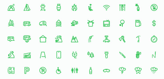 Cooles Outdoor Icon Set