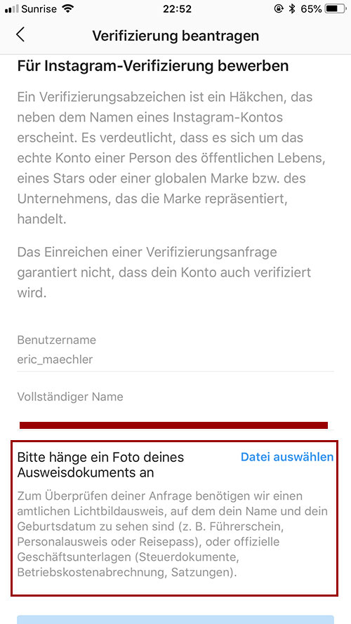 instagram account verifizierung 5 - Instagram Account verifizieren - so geht es