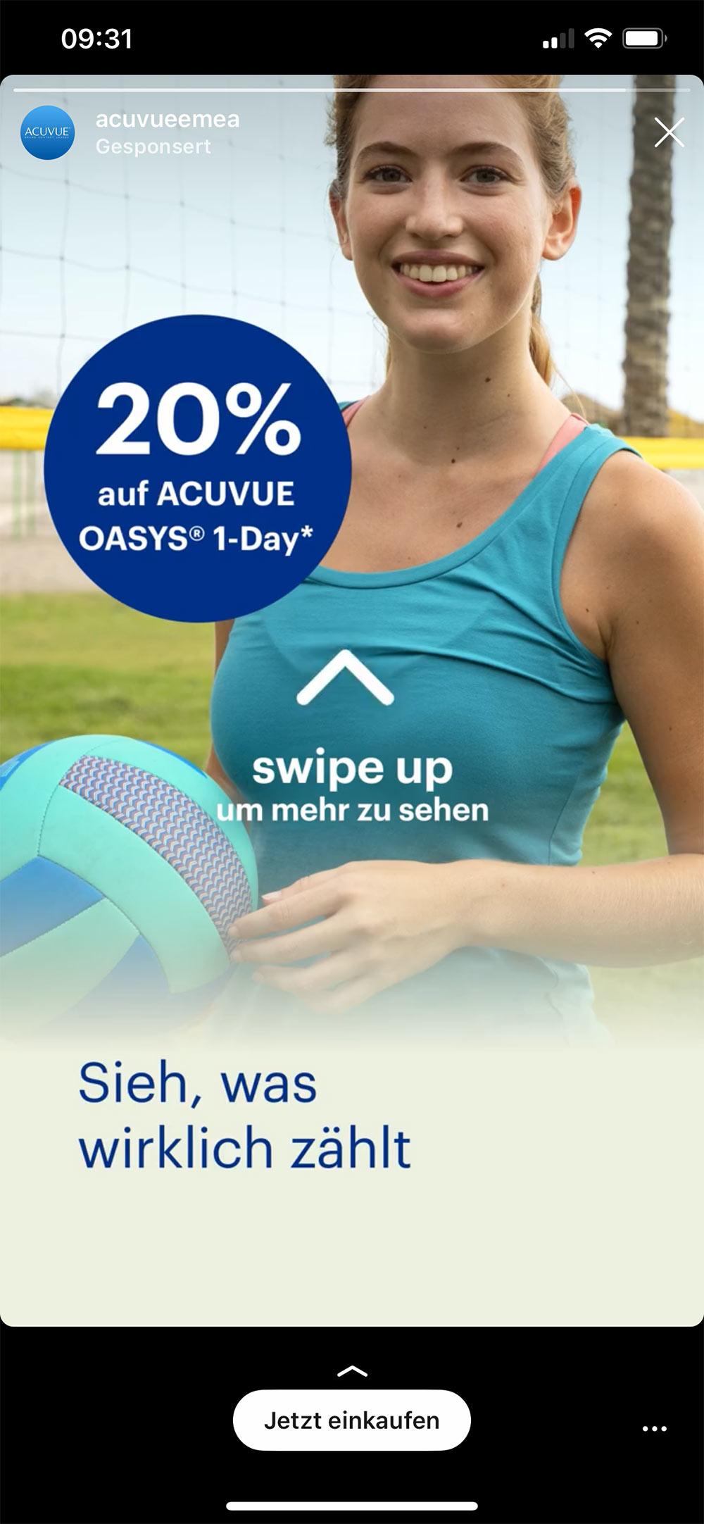 instagram ads acuvueemea - Werbung die wirken müssen aufregen