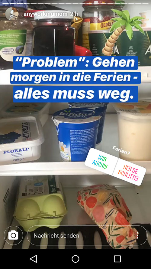 instagram story anyworkingmom loumalou 1 - Instagram Stories im Einsatz
