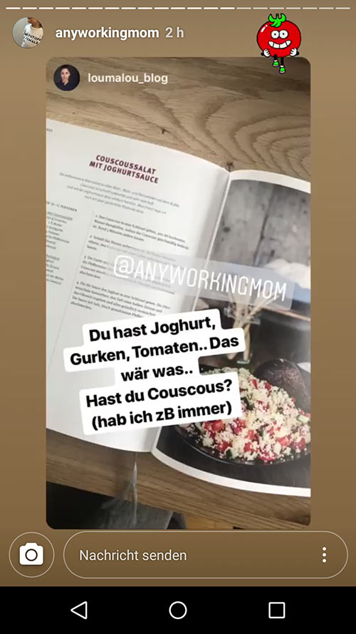 instagram story anyworkingmom loumalou 11 - Instagram Stories im Einsatz