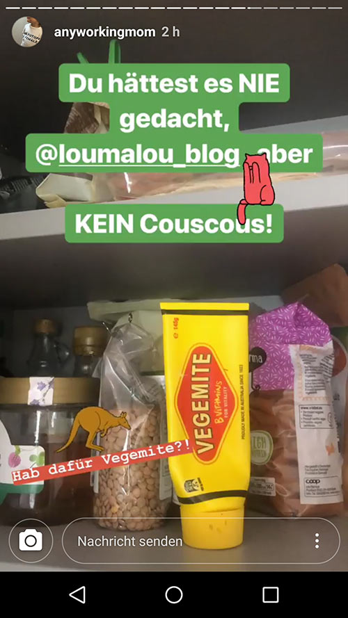 instagram story anyworkingmom loumalou 13 - Instagram Stories im Einsatz