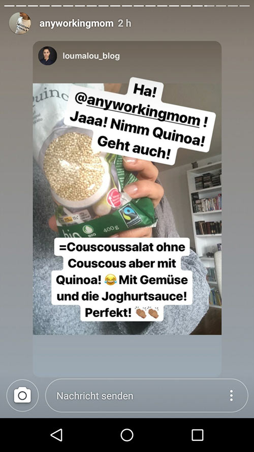 instagram story anyworkingmom loumalou 15 - Instagram Stories im Einsatz