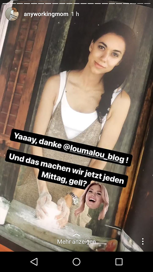instagram story anyworkingmom loumalou 16 - Instagram Stories im Einsatz