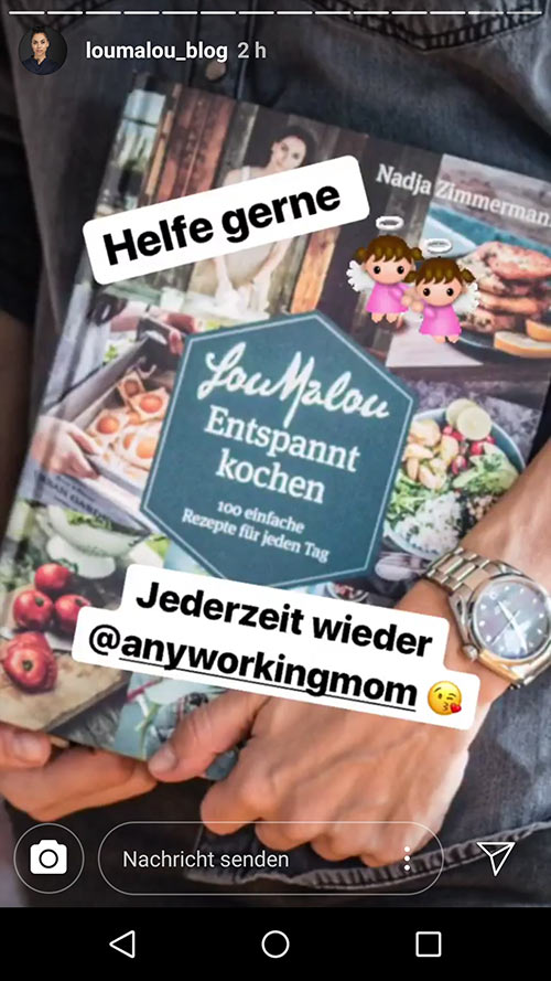 instagram story anyworkingmom loumalou 18 - Instagram Stories im Einsatz