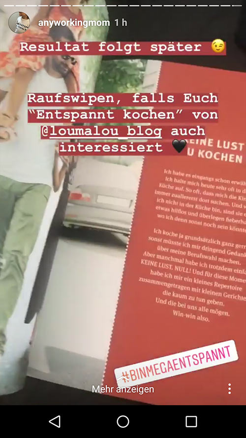 instagram story anyworkingmom loumalou 19 - Instagram Stories im Einsatz