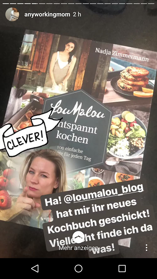 instagram story anyworkingmom loumalou 2 - Instagram Stories im Einsatz