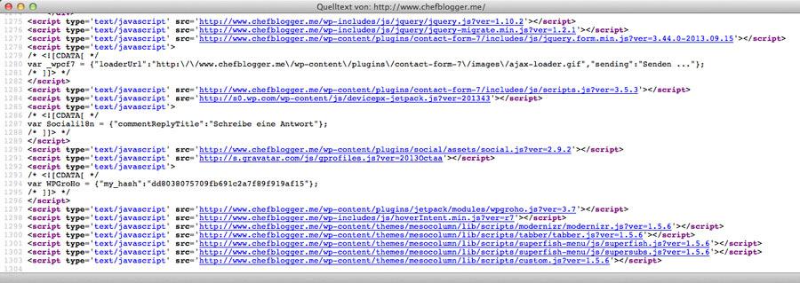 Javascript Quellcode