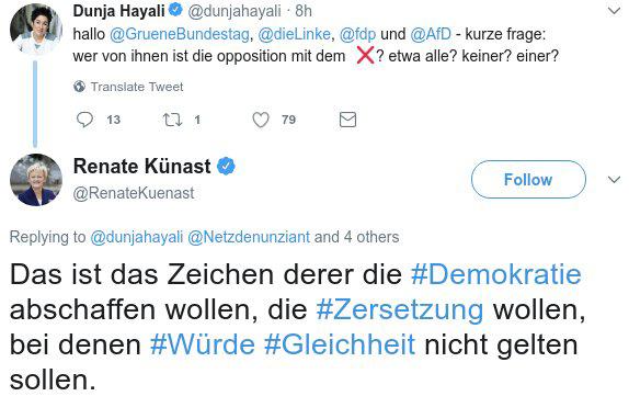 kreuz shadowban tweet kuenast - Wer vom Shadowban betroffen ist, ist ein Nazi ! Oder?