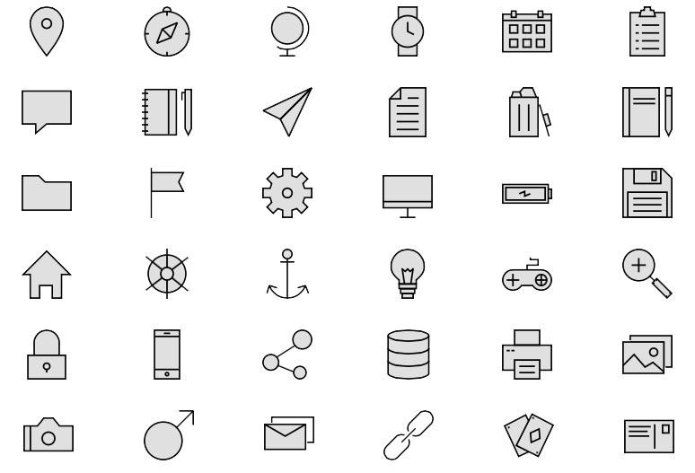 Linea - das Icon-Set mit über 730 Icons versch. Bereiche