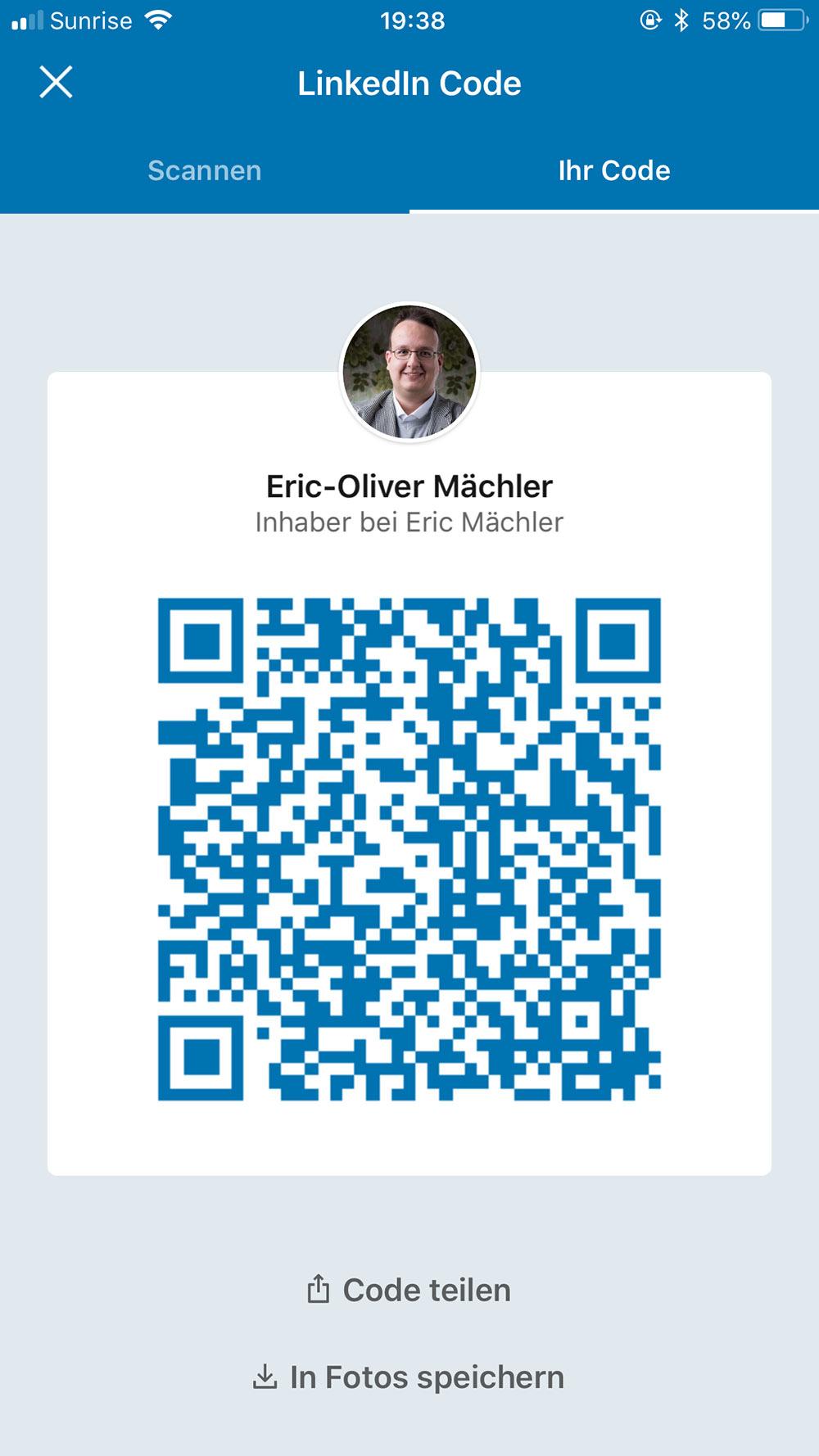 linkedin qr code 3 - LinkedIn neu mit QR Code