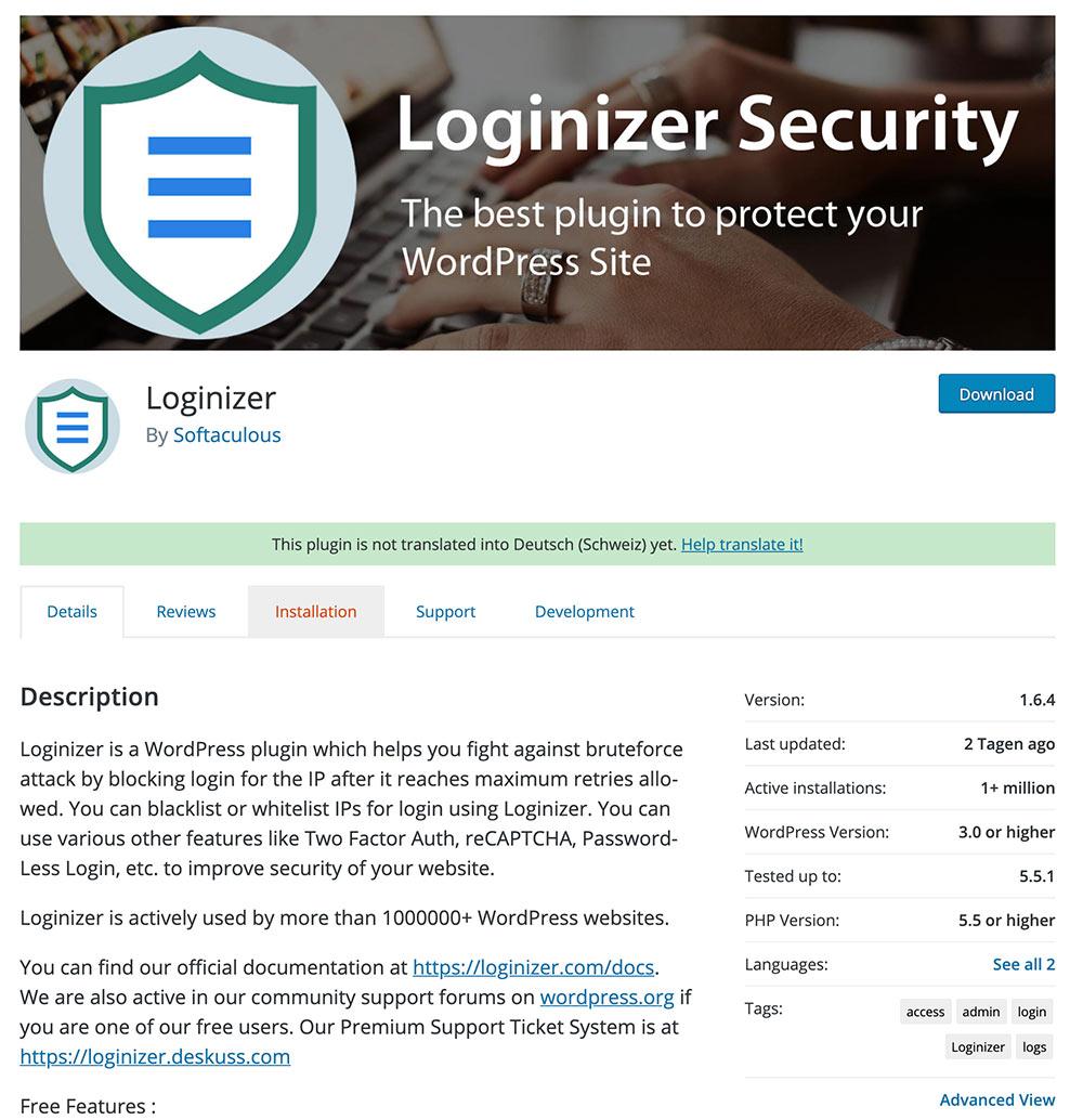loginizer wordpress plugin okt 2020 - Sicherheitslücke im Plugin Loginizer - Zwangsupdate wird durchgeführt