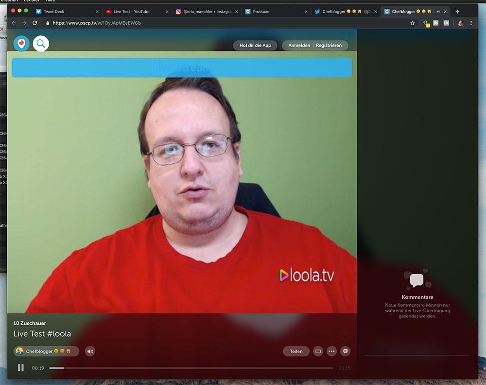 loola 5 - Wie macht man einen mehrfachen Livestream? Verwende Loola.tv