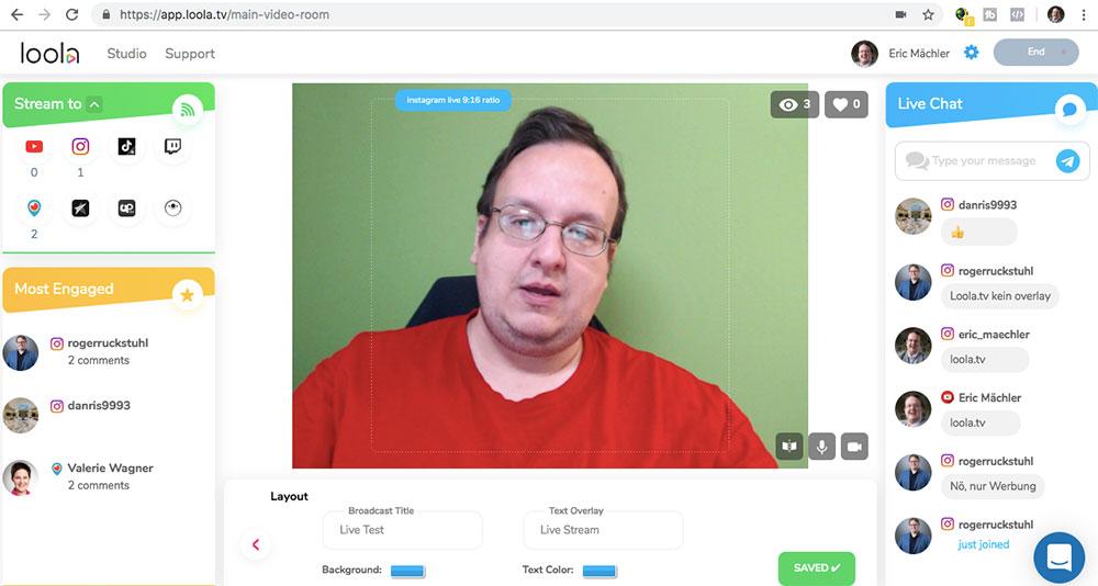 loola 6 - Wie macht man einen mehrfachen Livestream? Verwende Loola.tv