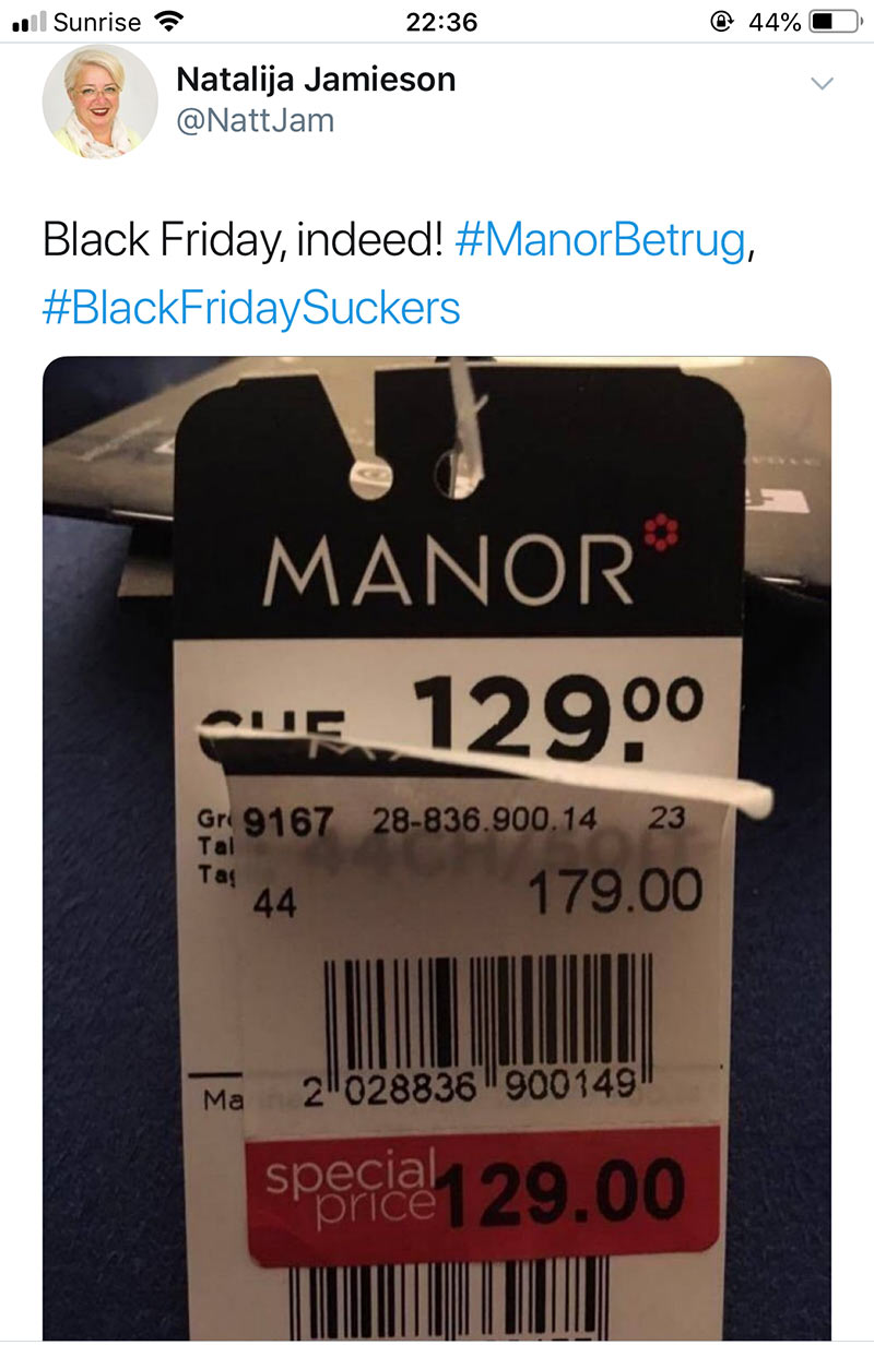 manor blackfriday2018 fail 1 - Manor und der Black Friday Fail