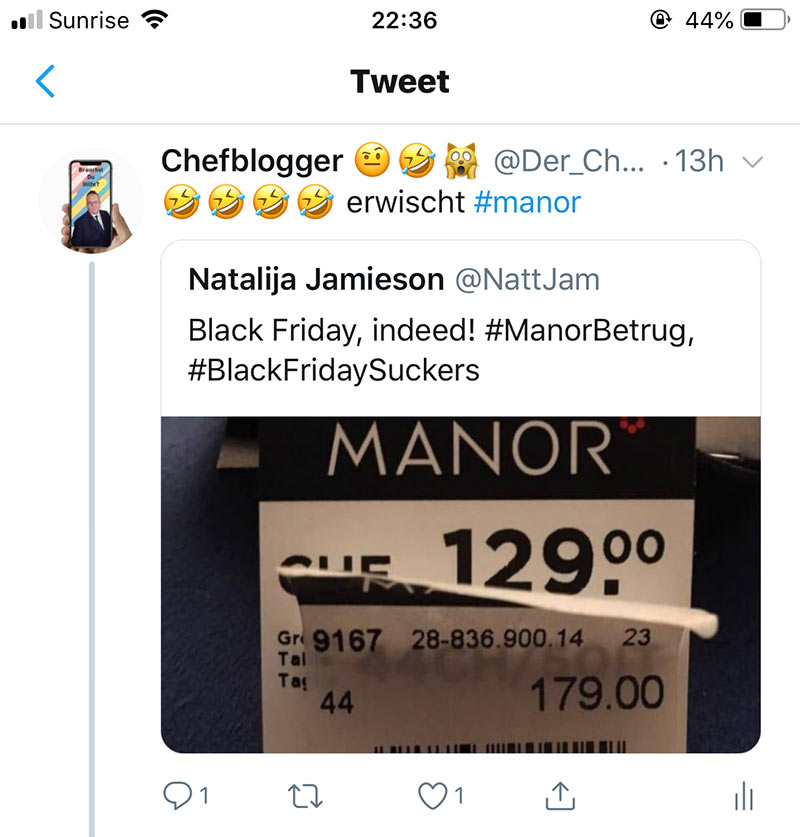 manor blackfriday2018 fail 2 - Manor und der Black Friday Fail