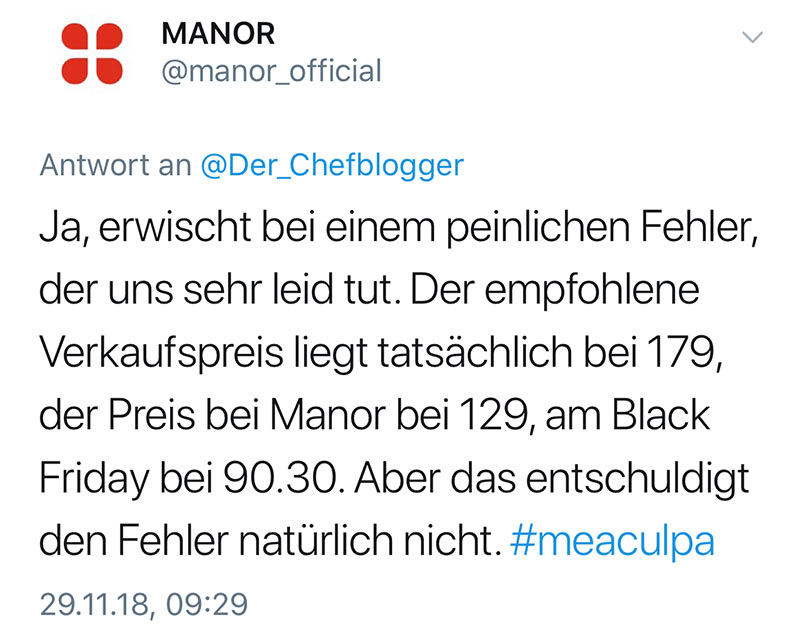 manor blackfriday2018 fail 3 - Manor und der Black Friday Fail