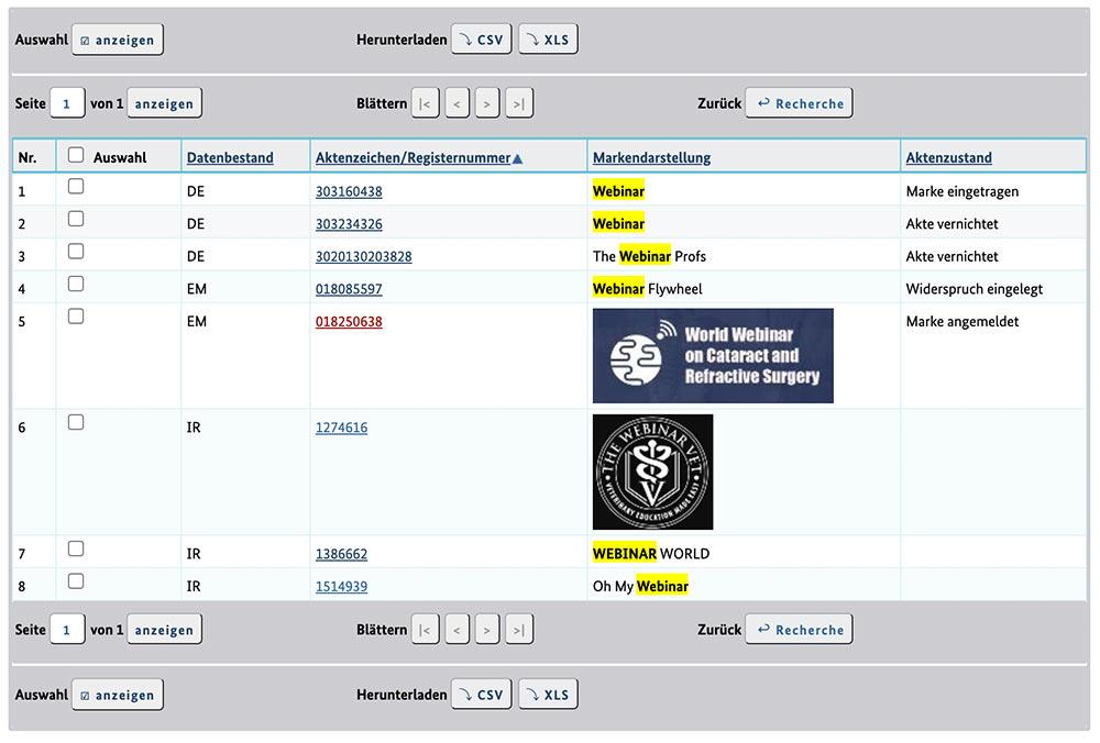 marke webinar 2 - Darf man das Wort Webinar noch verwenden? Oder verstösst es gegen den Markenschutz?