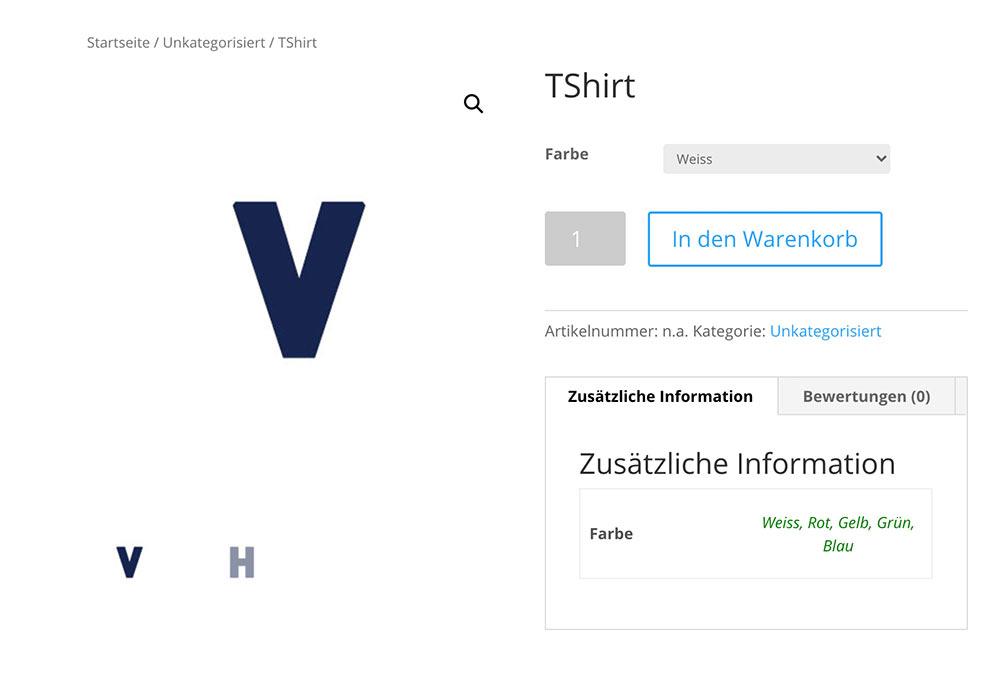 mehrere produktbilder variable produkte 1 - WooCommerce: Mehrere Produktbilder bei variablen Produkte anzeigen lassen