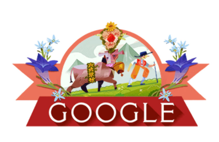 nationalfeiertag schweiz 2018 google doodle 1 - Google Doodle zum Schweizer Nationalfeiertag 1. August 2018
