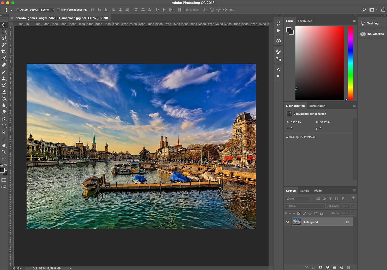 photoshop cc bild einfaerben 1 - Photoshop CC wie färbt man ein Bild ein