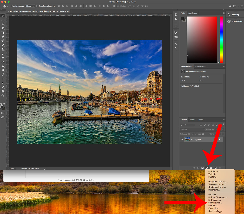 photoshop cc bild einfaerben 2 - Photoshop CC wie färbt man ein Bild ein