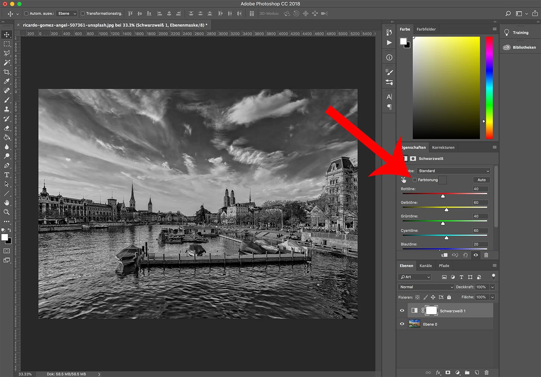 photoshop cc bild einfaerben 3 - Photoshop CC wie färbt man ein Bild ein