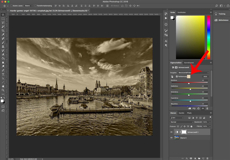 photoshop cc bild einfaerben 4 - Photoshop CC wie färbt man ein Bild ein