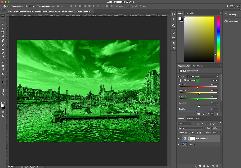 photoshop cc bild einfaerben 5 - Photoshop CC wie färbt man ein Bild ein