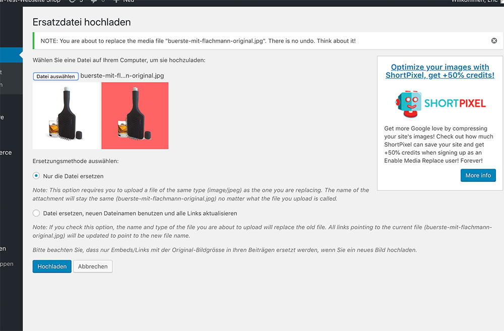 plugin enable media replace 5 - Neues Plugin - Bilder in Mediathek ersetzen - Enable Media Replace
