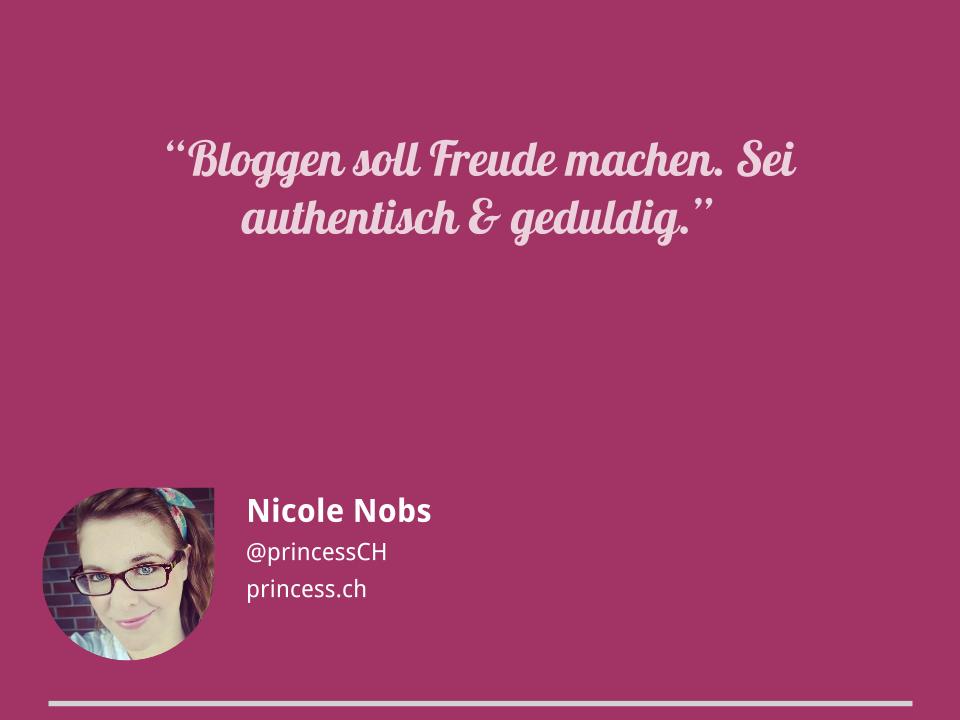 Blogger-Tipps von Nicole Nobs