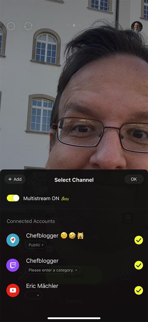 prismlive multistream 2 - Livestream Multistreaming mit #PRISMLiveStudio