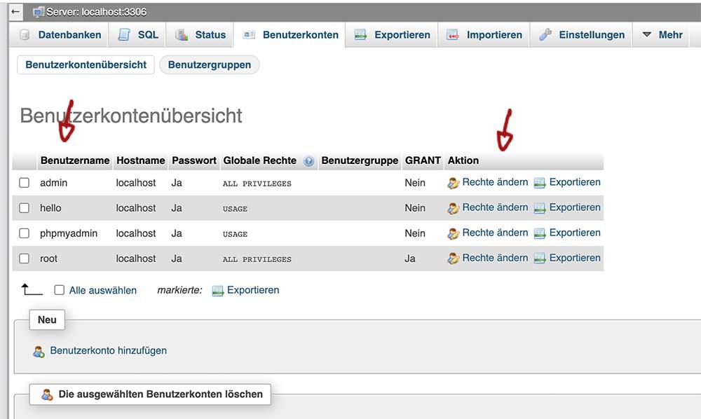 raspberry pi mysql passwort aendern 3 - Raspberry PI: phpMyAdmin Root Passwort und Benutzer vergessen