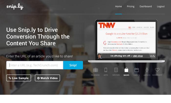 Snip.ly - Ein neuer und genialer URL Shortener