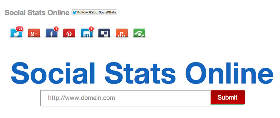 some online stat - Social Media Stats online checken