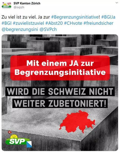 svp zuerich begrenzungsinitiative fail schweiz - Typisch Zürcher SVP - Kontrolliert eure Posts und Blogbeiträge