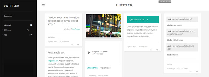 Rossen - Tumblr Theme