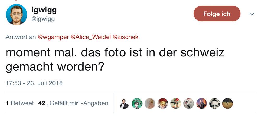 tweet alice weidel juli 2018 2 - AfD Twitter Fail - wenn man nicht aufpasst und sich lächerlich macht