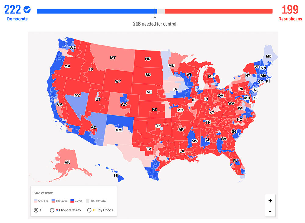 us midterms2018 results house - Trump Midterm 2018 - das Ende der Macht der Journalisten?