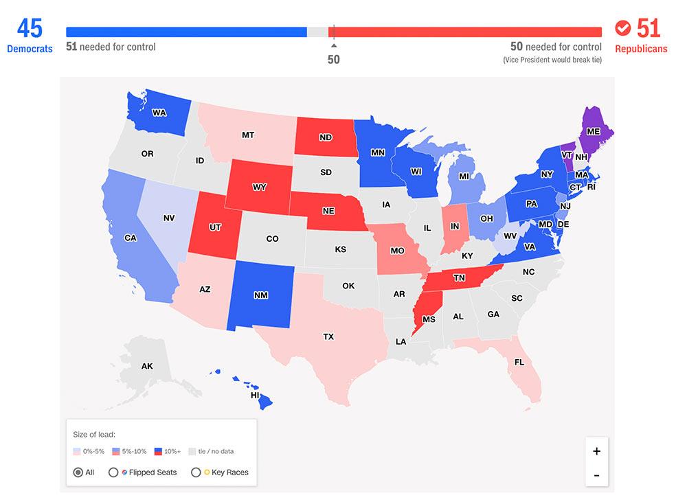 us midterms2018 results senat - Trump Midterm 2018 - das Ende der Macht der Journalisten?