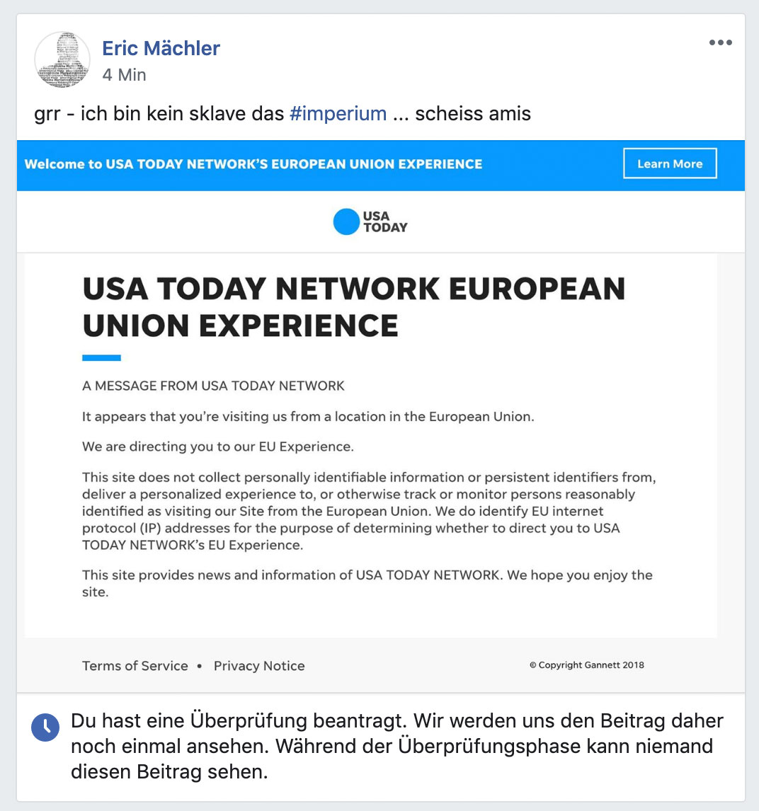 usa today fuck facebook - Fucking Facebook