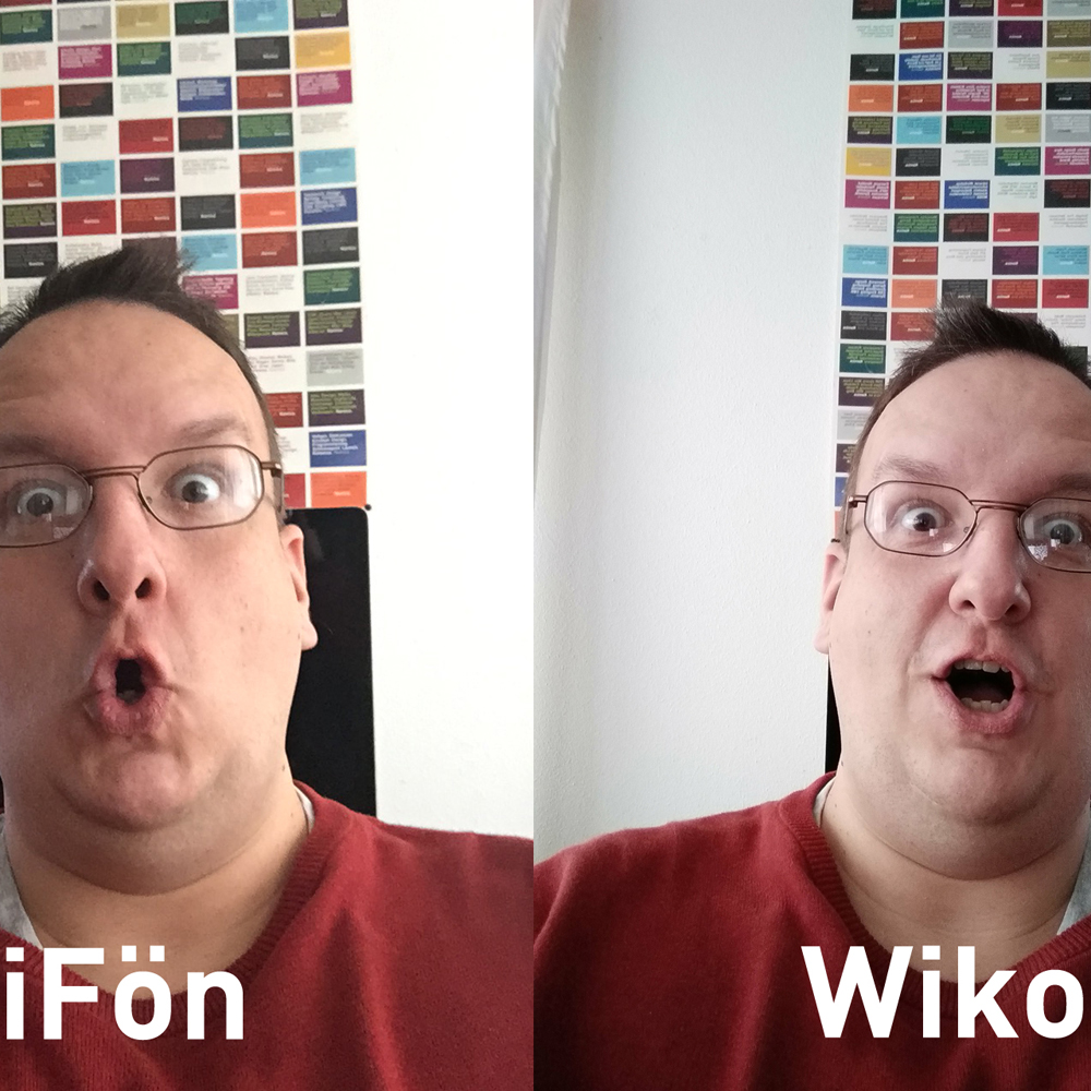 vergleich wiko iphone selfie - iPhone 6 Plus vs Wiko WIM