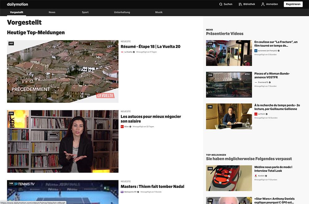 video hoster dailymotion - Video Hoster für Private oder Firmen