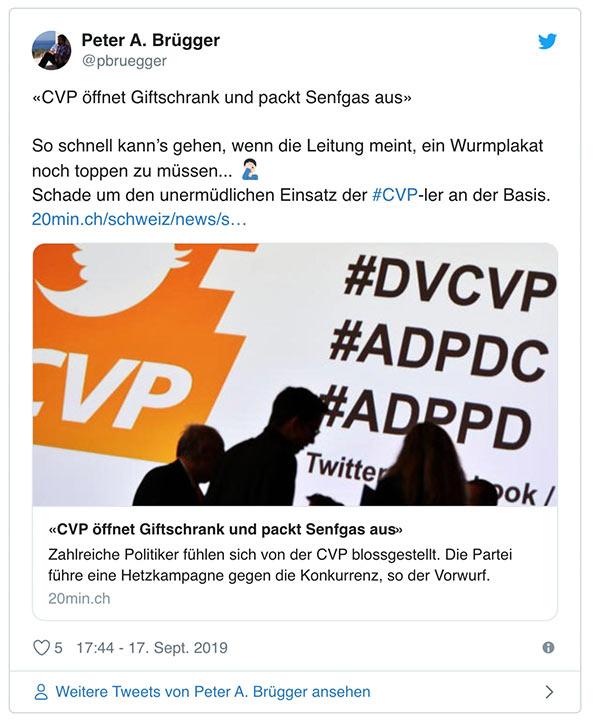 wahlkampf19 cvp negative kampagne 10 - Die CVP macht Negative Campaigning ist das ein guter Einsatz von Social Media? Schweizer Wahlkampf 2019
