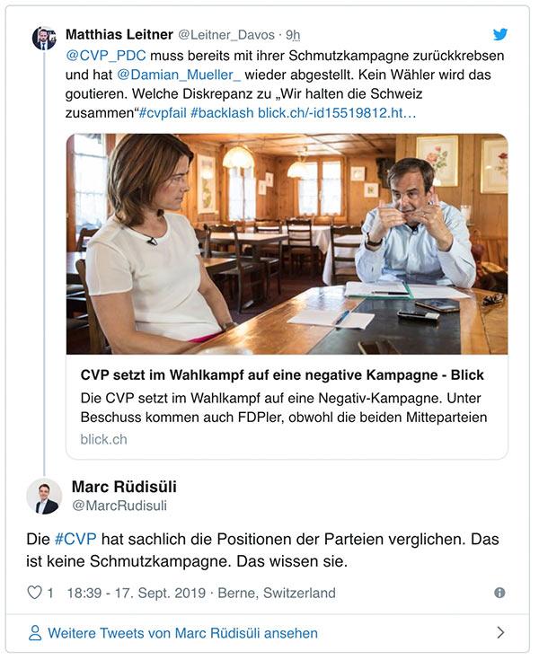wahlkampf19 cvp negative kampagne 14 - Die CVP macht Negative Campaigning ist das ein guter Einsatz von Social Media? Schweizer Wahlkampf 2019