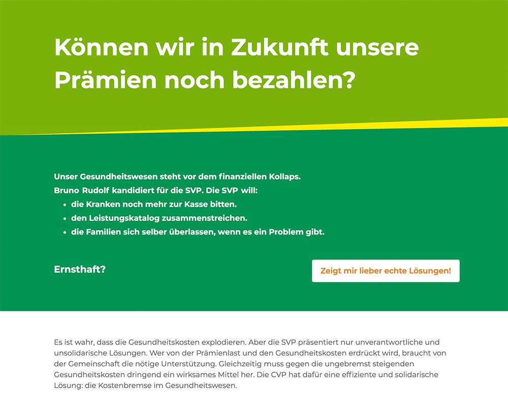 wahlkampf19 cvp negative kampagne 2 - Die CVP macht Negative Campaigning ist das ein guter Einsatz von Social Media? Schweizer Wahlkampf 2019