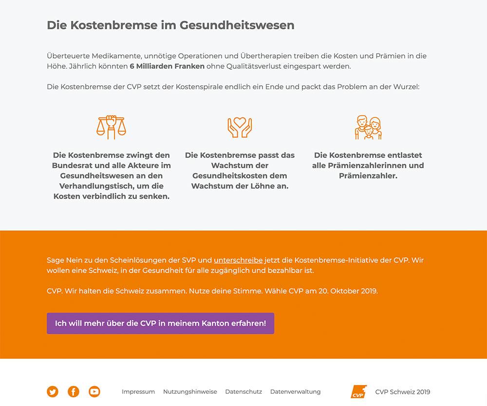 wahlkampf19 cvp negative kampagne 3 - Die CVP macht Negative Campaigning ist das ein guter Einsatz von Social Media? Schweizer Wahlkampf 2019